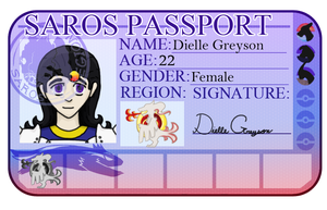 Dielle's passport by Zexion-the-gamer