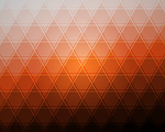 Tiled Triangles Ubuntu Orange by he4rty