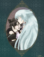 Oct Request - Cheshire + Alice by Darkbutterfly137