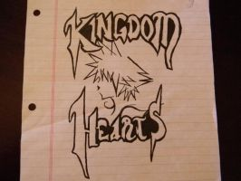 Kingdom Hearts drawing by flangeez