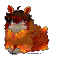 Fire Sheep Adoptable [sold] by Squidoptables