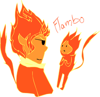 AT: Flambo....the fire boy by DJdannie4610