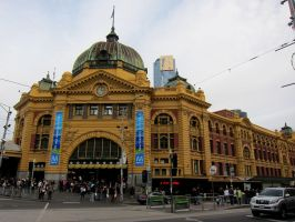 Flinders Street Station by Bella-Blue