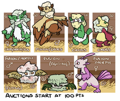 PKMNN - Mienfoo x Cottonee Clutch (Auction) by Thalateya