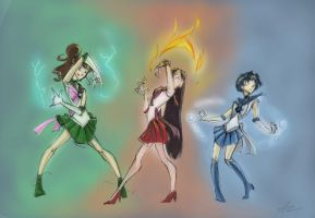 Sailor Scouts by perishing-twinkie