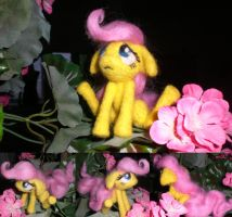 Filly Fluttershy Needle felted by Holcifio