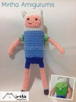 Amigurumi Finn with bag by Mirtha Amigurumis by MirthaAmigurumis