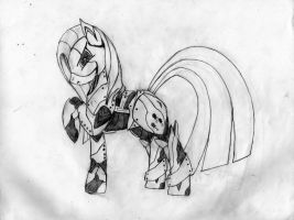 Laughter MX115  La Pinkamena Sketch by BaroqueDavid