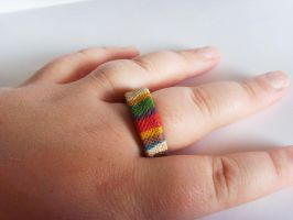 Doctor Who Tom Baker Scarf Ring 1 by tyney123