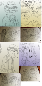 little Nightmares doodles -12- by Cageyshick05