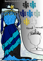 Contest Entry ~~ Winter Queen Dress by reeno-tsun