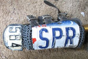 license plate bracers WIP 2 by emptysamurai