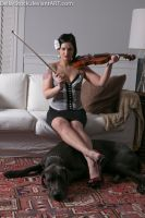 Kit and Gus with a Violin.2 by Della-Stock