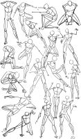 Male Power Poses -Anatomy by OryxPixie