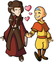 Commission - Aang and Mai by JamesmanTheRegenold