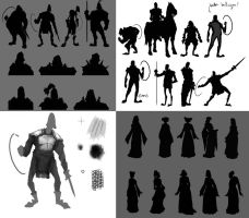 King Arthur - Thumbnail sketches by worksofheart