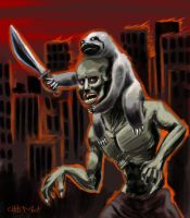 Zombruary #3: Return of the Sloth by chrismoet