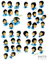 Old Art: Cartoon Beatles FACES by Smitkins