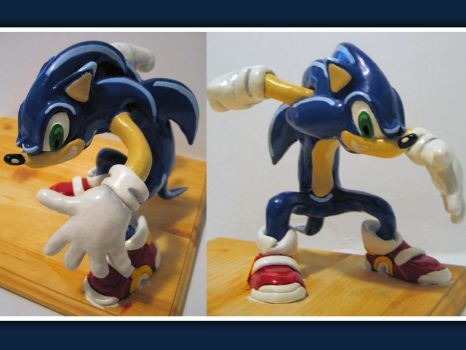 Sonic the Hedgehog Painted by eric-with-a-k