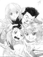 gon,killua,kurapica and leorio by lyllvelt