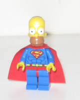 Lego Homer as Superman by darthraner83