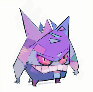 Gengar by michaelfirman