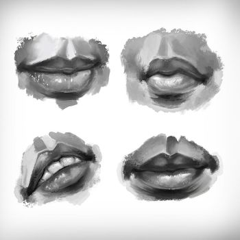 Lips skeches by Bola5