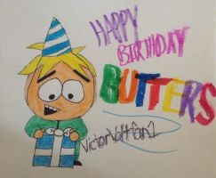 Happy Birthday Butters by VictorVoltfan1