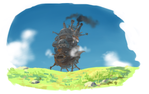 Howl Moving Castle doodle by N-A-R-I