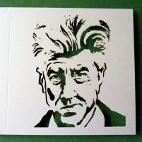 David Lynch - laser card by Piciuu
