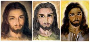 Portrait of Jesus progress by jolabrodnica
