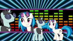 Request:DJ ponies by neodarkwing