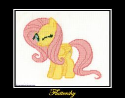 Fluttershy Cross Stitch by Peruserofpieces