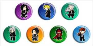 Final Fantasy VII Buttons by Maxx-V