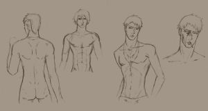 dmc sketches_anatomy practice by MaqiChanThunder