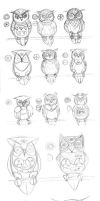 RoboOwls-- Moreframes Concepts by pettyartist