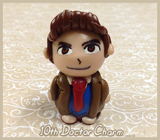10th Doctor Clay Charm by Comsical