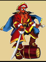 Pirate Spiderman colored by Anothen