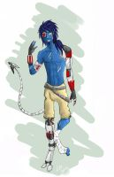 Cyborg_Nightcrawler by lauri244