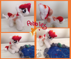 Pebbles Posable Needle Felt by the-pink-dragon