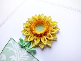 Delicate sunflower by othewhitewizard