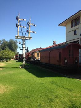Merridin Railway Museum - Signal and lineup by The-ARC-Minister