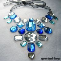 Blue and Silver Necklace by Natalie526