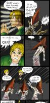 Pyramid Head Comic ClosetScene by macawnivore