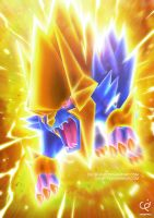THE BLUE THUNDERBOLT - MEGA MANECTRIC by CHOBI-PHO