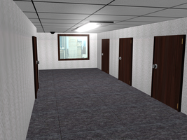 Office Hallway by Lekonua