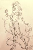 Poison Ivy Sketch by CdubbArt
