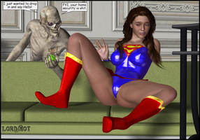 Creeping Up On Supergirl by LordSnot