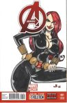 SKETCH COVER Black Widow by jasinmartin