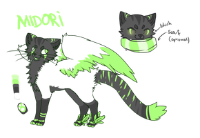 Midori Ref sheet by Crystal-Caie